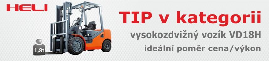 Čelní motorové vozíky dieselové 1,5 - 1,8 t, model H
