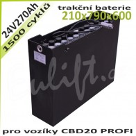 Trakční baterie 24V / 270 Ah