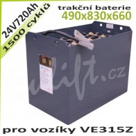 Trakční Baterie 24V / 720Ah