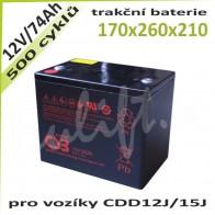 Trakční Baterie 12V / 74Ah