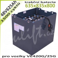 Trakční Baterie 48V / 625Ah