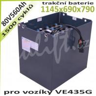 Trakční Baterie 80V / 560Ah