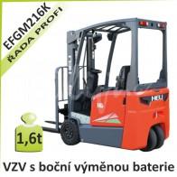 AKU vozík EFGM216 K s boční výměnou baterie