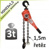 Kladkostroj ráčnový HSHZ3x1,5