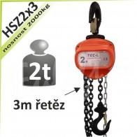 Kladkostroj řetězový HSZ2x3