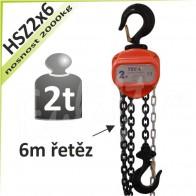 Kladkostroj řetězový HSZ2x6
