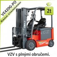 Akumulátorový vozík VE420 G PLNÉ OBRUČE