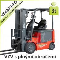 Akumulátorový vozík VE430 G PLNÉ OBRUČE