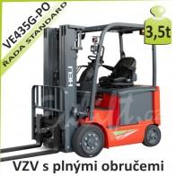 Akumulátorový vozík VE435 G PLNÉ OBRUČE