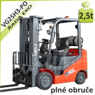 Vysokozdvižný vozík VG25 H3 PLNÉ OBRUČE