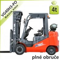 Vysokozdvižný vozík VG40 H3 PLNÉ OBRUČE