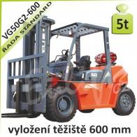 Vysokozdvižný vozík VG50 G2 -600 LPG