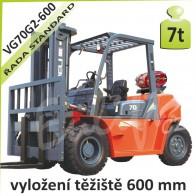 Vysokozdvižný vozík VG70 G2 -600