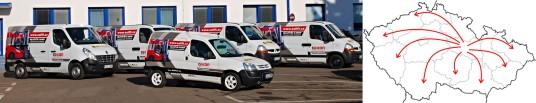 servisní flotila naší společnosti Gekkon International, s.r.o.